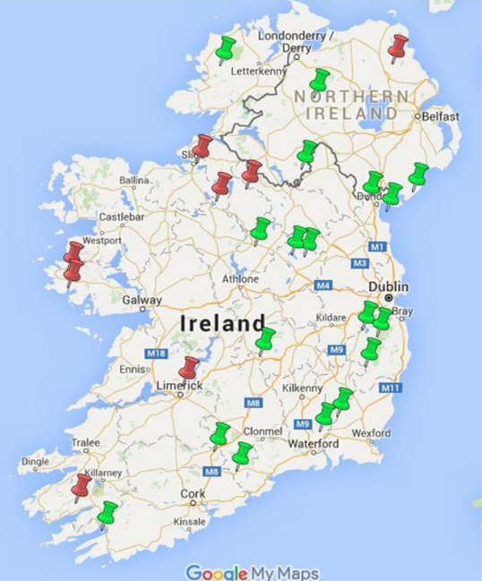 32 County Map Of Ireland.32 County Highest Points Walk Dublin Hills Hike Wicklow